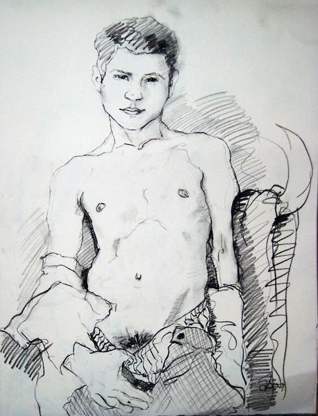Gay male erotic nude art